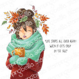 Stamping Bella - Cling Stamps - Mochi Fall Girl (EB983)
