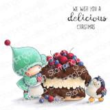 Stamping Bella - Cling Stamps - Bundle Girl & Penguin Bake A Cake (EB991)
