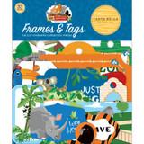 Echo Park - Cardstock Frames & Tags 33/Pkg - Zoo Adventure (CBZA128025)