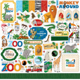 "Echo Park - Cardstock Stickers 12""X12""- Zoo Adventure (CBZA128014)"