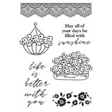 "Kaisercraft - Clear Stamp 6""X4"" - Flower Shoppe (CS383)"