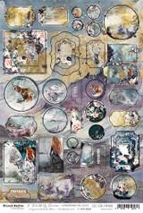 Craft O Clock - Chipboard Die-cuts 8 x 11 3/4 - A Twinkle of Sunrise (CC-CB-MM06)