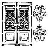 13 @rts - Stencil 6x6 - Bella - Vintage Door (ARTBE16)