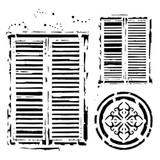 13 @rts - Stencil 6x6 - Bella - Windows In Venice (ARTBE13)