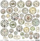 Craft O Clock - 12x12 Mixed Media Ephemera cut out sheet XII - Clocks 2 (CC-MM-DOD-12)