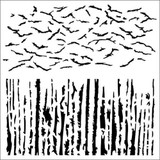 13 @rts -Stencil 6x6 - Crackles - Art Journey (ARTS503)