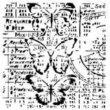 13 @rts -Stencil 6x6 - Grungy Walls - Grungy Butterflies (ARTS056)