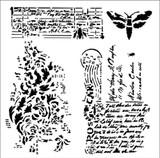 13 @rts -Stencil 6x6 - PostCard - Secret Letters (ARTS552)