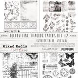 Craft O Clock - 8x12 Vellum Decorative Tracing Papers Set 4/pkg - Mixed Media Set 2 (CC-MM-ZK-02)