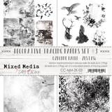 Craft O Clock - 8x12 Vellum Decorative Tracing Papers Set 4/pkg - Mixed Media Set 3 (CC-MM-ZK-03)