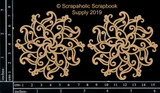 Scrapaholics - Laser Cut Chipboard - Mandala Set 2 (S52002)