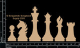 Scrapaholics - Laser Cut Chipboard - Chess Pieces (S53238)