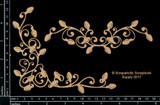 Scrapaholics - Laser Cut Chipboard - Christmas Light Flourishes (S49859)