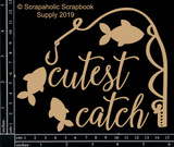 Scrapaholics - Laser Cut Chipboard - Cutest Catch Set (S52385)