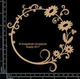 Scrapaholics - Laser Cut Chipboard - Floral Flourish Frame 1 (S51500)