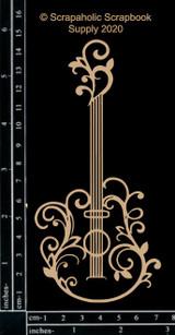 Scrapaholics - Laser Cut Chipboard - Flourish Guitar (S52743)