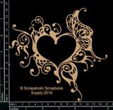 Scrapaholics - Laser Cut Chipboard - Gothic Heart Frame