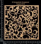 Scrapaholics - Laser Cut Chipboard - Music Panel (S50831)