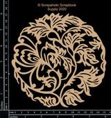 Scrapaholics - Laser Cut Chipboard - Oriental Doily (S53306)