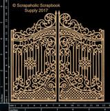 Scrapaholics - Laser Cut Chipboard - Ornate Gate (S50442)