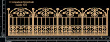 Scrapaholics - Laser Cut Chipboard - Iron Fence (S50053)