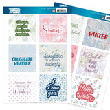 Find It Trading - Jeanine's Art - The Colours Of Winter - Punchout Sheet - Text Designs (JATD1004)
