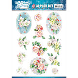 Find It Trading - Jeanine's Art - The Colours Of Winter - Punchout Sheet - Pink Winter Flowers (SB10491)