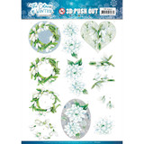 Find It Trading - Jeanine's Art - The Colours Of Winter - Punchout Sheet - White Winter Flowers (SB10492)