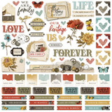 "Simple Stories - Cardstock Stickers 12""X12"" - Simple Vintage Ancestry - Combo (SVA14101)"