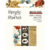Simple Stories - Washi Tape 3/Pkg - Simple Vintage Ancestry (SVA14129)