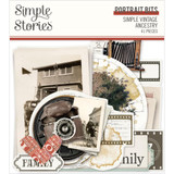 Simple Stories - Bits & Pieces Die-Cuts 32/Pkg - Simple Vintage Ancestry - Portrait (SVA14122)