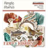 Simple Stories - Bits & Pieces Die-Cuts 57/Pkg - Simple Vintage Ancestry - Frames (SVA14121)