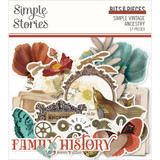 Simple Stories - Bits & Pieces Die-Cuts 57/Pkg - Simple Vintage Ancestry (SVA14121)