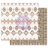 Prima - Double sided 12x12 Paper w/Foil Accents - Golden Desert - Peyote (GOLD12 49542)