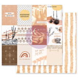 Prima - Double sided 12x12 Paper w/Foil Accents - Golden Desert - Saguaro (GOLD12 49566)