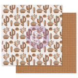 Prima - Double sided 12x12 Paper w/Foil Accents - Golden Desert - Mojave (GOLD12 49573)
