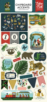 Echo Park - 6x13 Chipboard Accents - Animal Safari (ZOO167021)