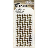 Stampers Anonymous - Tim Holtz - Layering Stencil - Houndstooth (THS055)