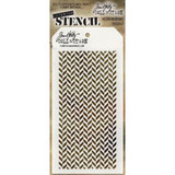 Tim Holtz - Layering Stencil Herringbone - Stampers Anonymous (THS057)