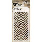 Tim Holtz- Layering Stencil Zigzag - Stampers Anonymous (THS047)