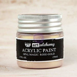 Finnabair Art Alchemy Acrylic Paint Opal Magic Rose Gold