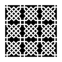 Crafters Workshop Ronda Palazzari 12x12 Stencil Knot Garden (237430)