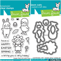 Lawn Fawn - Coordinating Stamp (LF1589) & Die Set (LF1590) Bundle - Easter Party