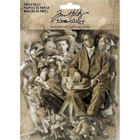Tim Holtz - Idea-Ology Paper Dolls Die Cuts Vintage Black And White