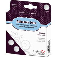 "Large Dots 1/2"" 200/Pkg - Dodz Adhesive Dot Roll - Scrapbook Adhesives"