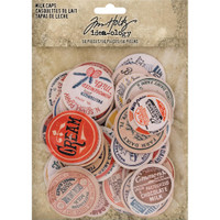 Tim Holtz Idea-ology Chipboard Milk Caps