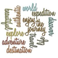 Adventure Script Words - Sizzix Framelits Die - Tim Holtz