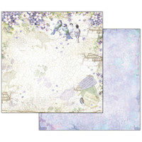Stamperia - Double sided 12x12 Paper - Flower Alphabet Wisteria (SBB503)