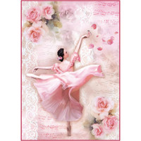 Stamperia -  Dancer With Petals - Decoupage Rice Paper 8.25 x 11.5