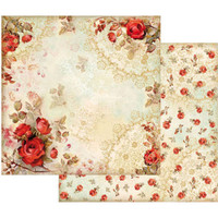 Stamperia - Double sided 12x12 Paper - Red Roses SBB416